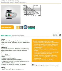 wilo stratos heating pump