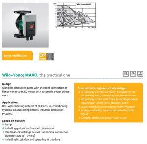 yonos maxo pump information