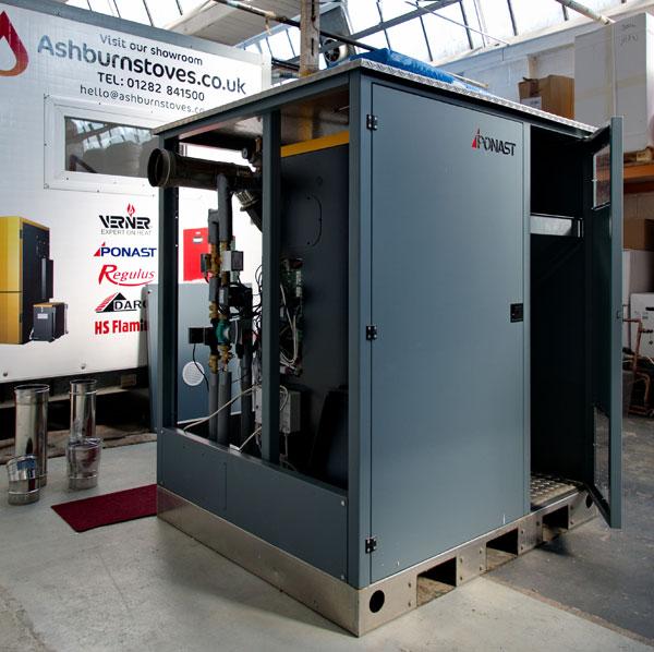 external biomass boiler room