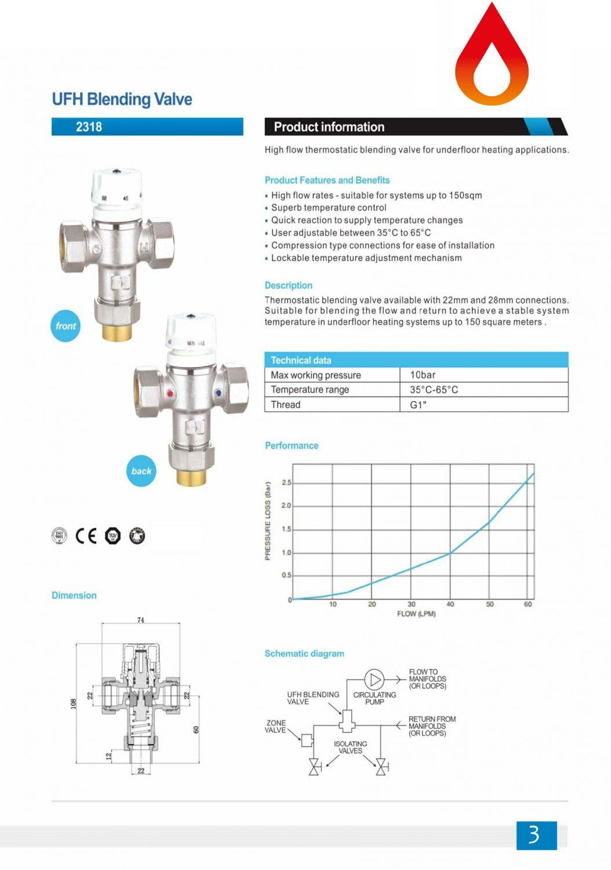 UFH blending valves